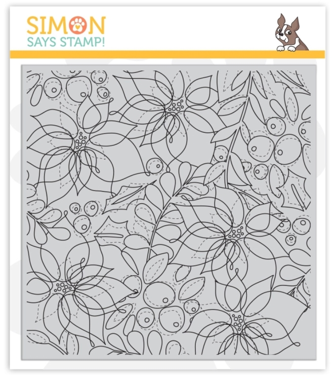 Simon Says Stamp Winter Floral Background Stamp