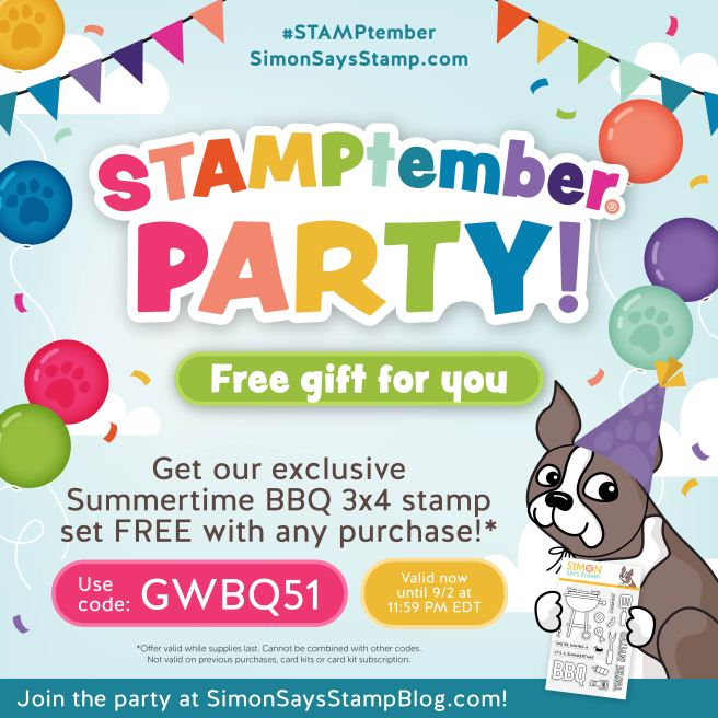 Free BBQ stamp set with any purchase while supplies last. Code GWBQ51 at checkout.